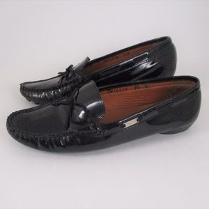 Salvatore Ferragamo 7.5 Black Leather Moccasin